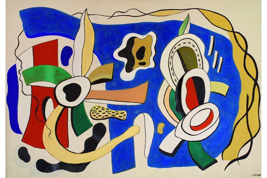 Fernand Leger – Nature Morte, fond blue