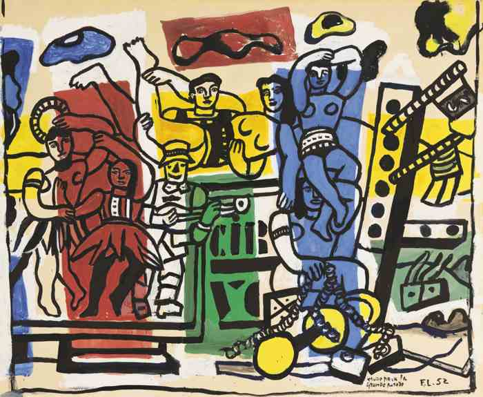 Fernand Leger-Etude Pour La Grande Parade-1952