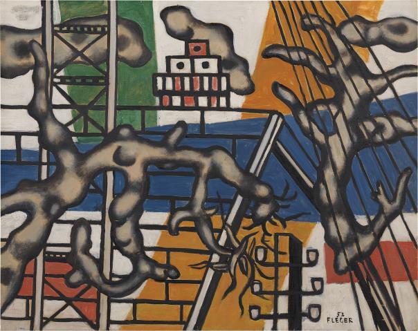 Fernand Leger-La Maison Jaune et L'Arbre Vert-1952