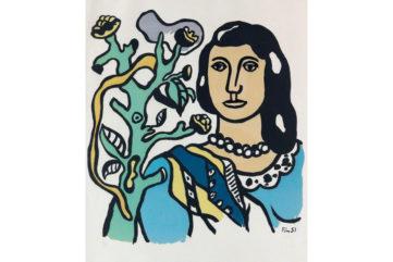 Fernand Leger - La femme et la fleur, 1954