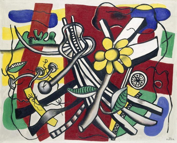 Fernand Leger - La fleur jaune
