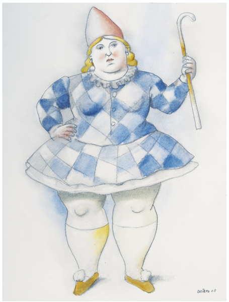 Fernando Botero-Circus Girl-2008