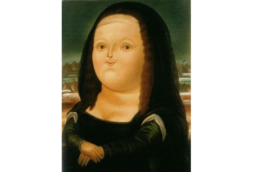 Donna Mona Lisa shows the use of recognizable style in Fernando Botero paintings