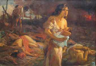 Fernando Cueto Amorsolo-Hope in the Ruins of Manila-1945