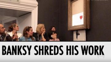 Fifth Wall TV Banksy Shredding