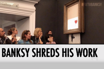 What Does Banksy's Shredded Piece Really Mean?