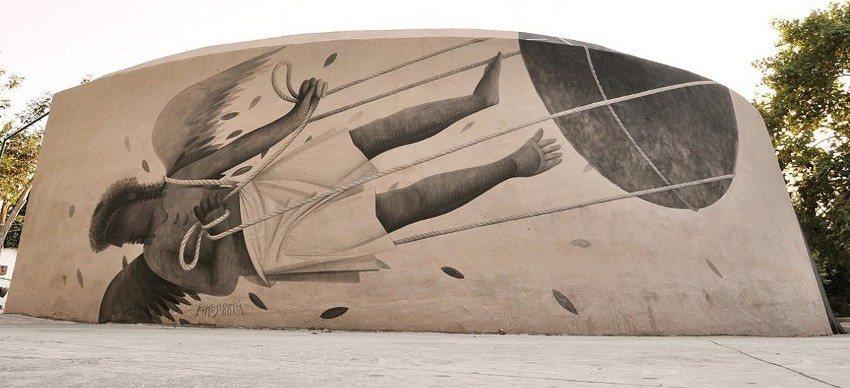 Ikarus, 2014, a mural for Bloop festival in Ibiza, Spain, contact, english, page, home, terms, mobile, privacy, support, athens, learn