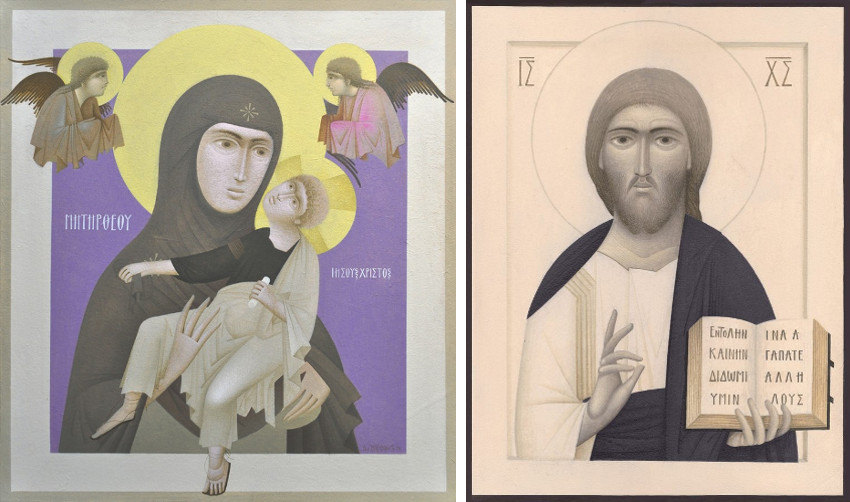 Virgin and Child, 2014 (Left) - Jesus Christ (Right)