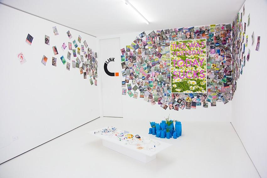 Filippo Minelli - Chemotherapy Update, solo show at Link Art Center, Brescia, Italy, 2014, installation view, photo credits - Filippo Minelli