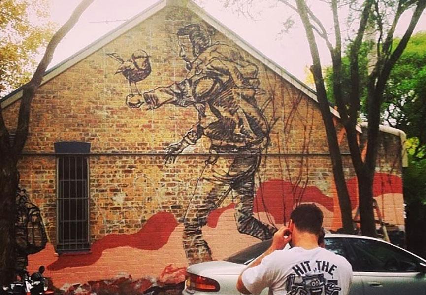 Mural in Sydney