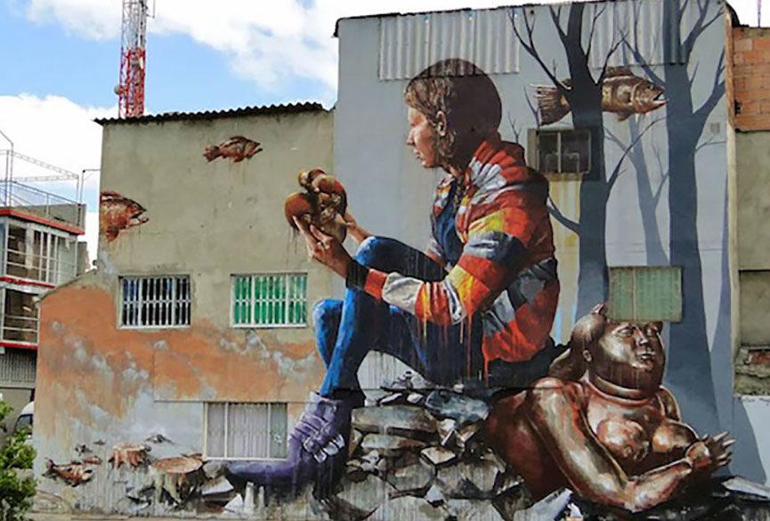 Realistic mural