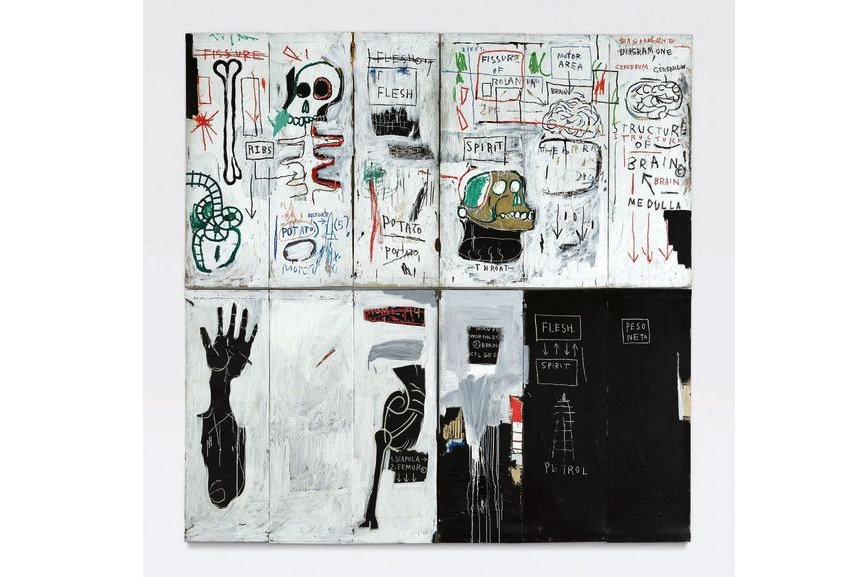 Jean Michel Basquiat gallery artwork Flesh And Spirit, 1983