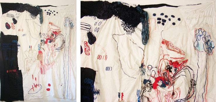 Florencia Walfisch - En El Rio De Mi Infancia (left) detail (right) 2010