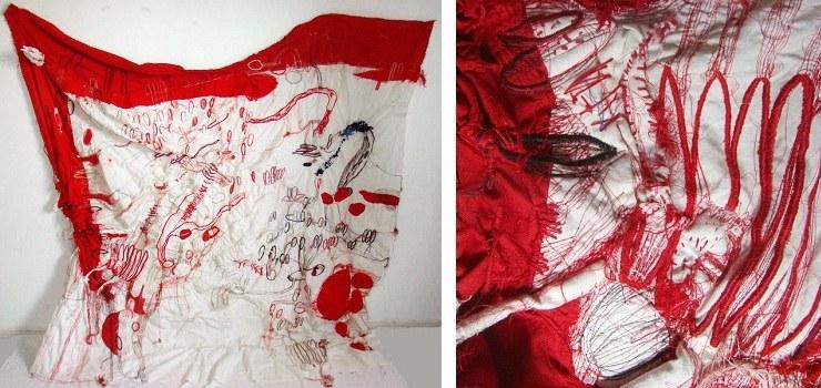 Florencia Walfisch - Me Lo Dijo Mi Garganta (left) detail (right) 2009