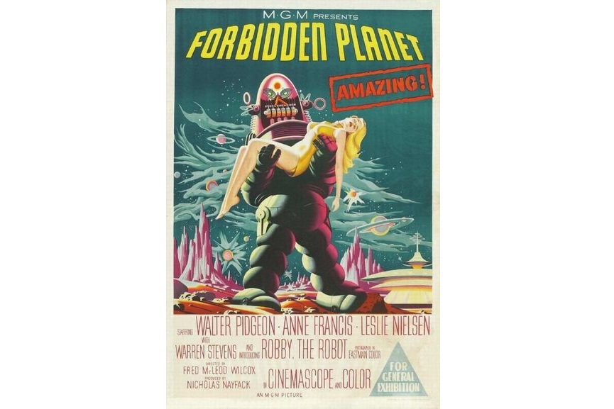 Forbidden Planet new star original print add price