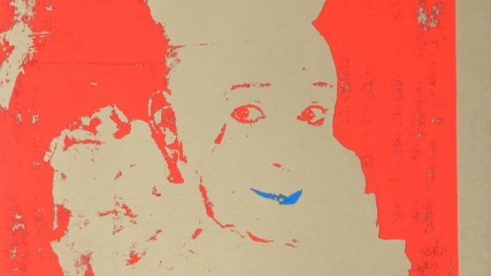 Ford Beckman - Neon Clown (Red with Blue), 1994 (detail)
