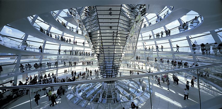 Foster And Partners - Reichstag, New German Parliament, 1992-1999, Berlin, Photo: Rudi Meisel