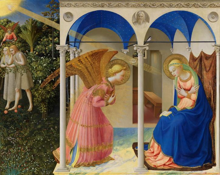 Fra Angelico - Annunciation and Expulsion of Adam and Eve from Eden