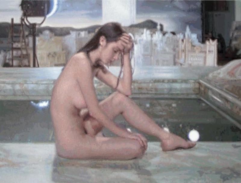 François Boisrond - Jeune fille nue assise au bord d'un bassin, 2012, Image copyrights © artist