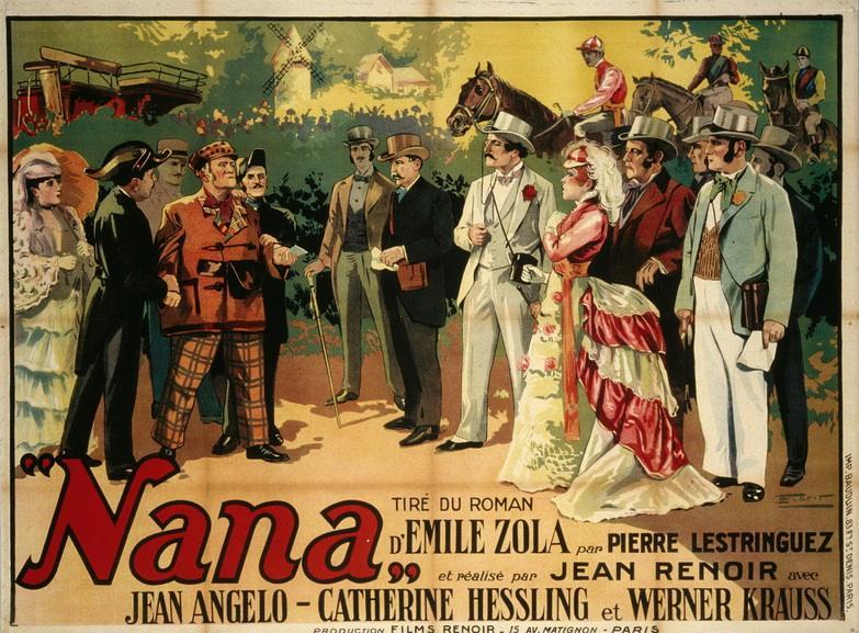 François Florit - Poster for the film of Jean Renoir Nana