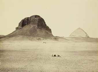Frances Frith-The Pyramids of Dahshur, from the East-1858