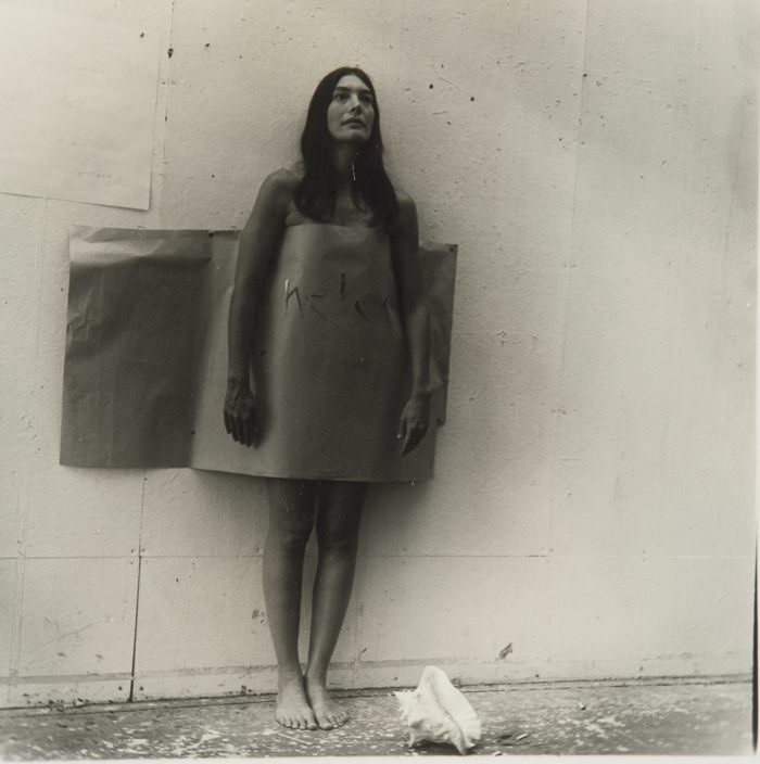 Francesca Woodman-Untitled Providence Rhode Island (Woman With Seashell)-1977