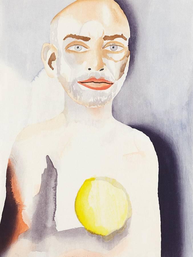 Francesco Clemente-Self-Portrait with Lemon Heart-2008