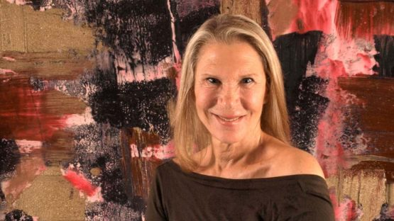 Francine Tint - Artist in her studio gallery, 2013 - Image courtesy of the artist