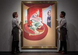 Francis Bacon's landmark painting, Study of Red Pope 1962. 2nd version 1971, at Christie's in London