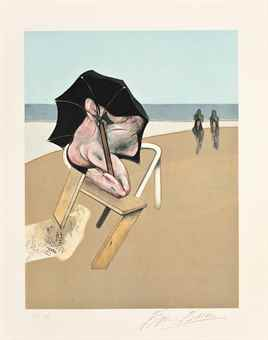 Francis Bacon-Left plate, from Metropolitan Triptych (Pannello sinistro da Metropolitan Triptych)-1981