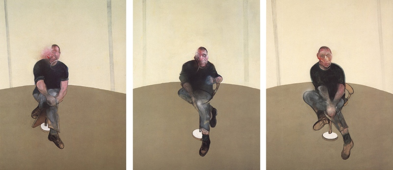 Francis Bacon - Study for Self-Portrait Triptych, 1985-86 - Copyright Estate of Francis Bacon