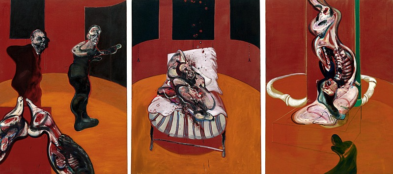 Francis Bacon - Three Studies for a Crucifixion, 1962 - Copyright Estate of Francis Bacon