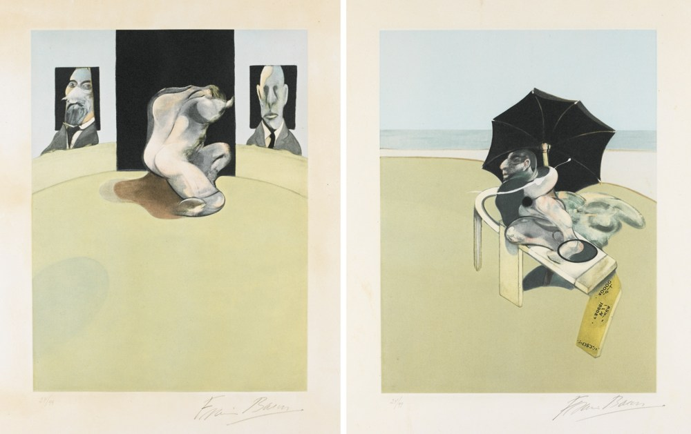 Francis Bacon-Triptych: Right Panel And Centre Panel-1981