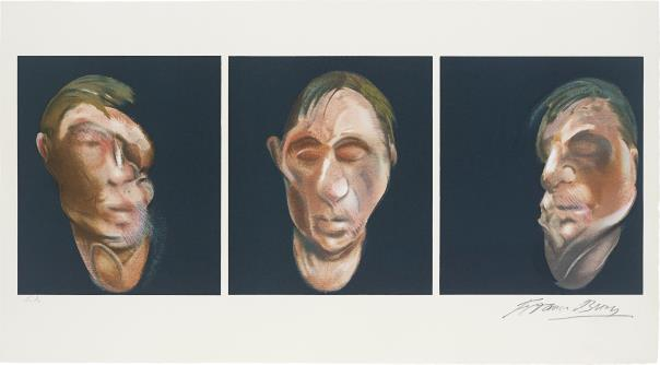 Francis Bacon-Trois etudes pour un autoportrait (after, Three Studies for a Self-Portrait 1983)-1990