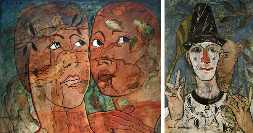 A picture of two works made by Francis Picabia that were immensely popular in every vital french gallery of the 1930s