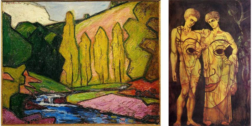 Two images of Picabia's body of works that show how the artist had a subtle religious note
