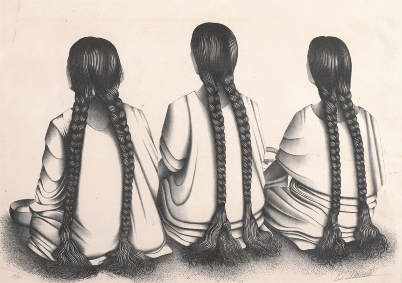 Francisco Dosamantes - Three Women with Braids