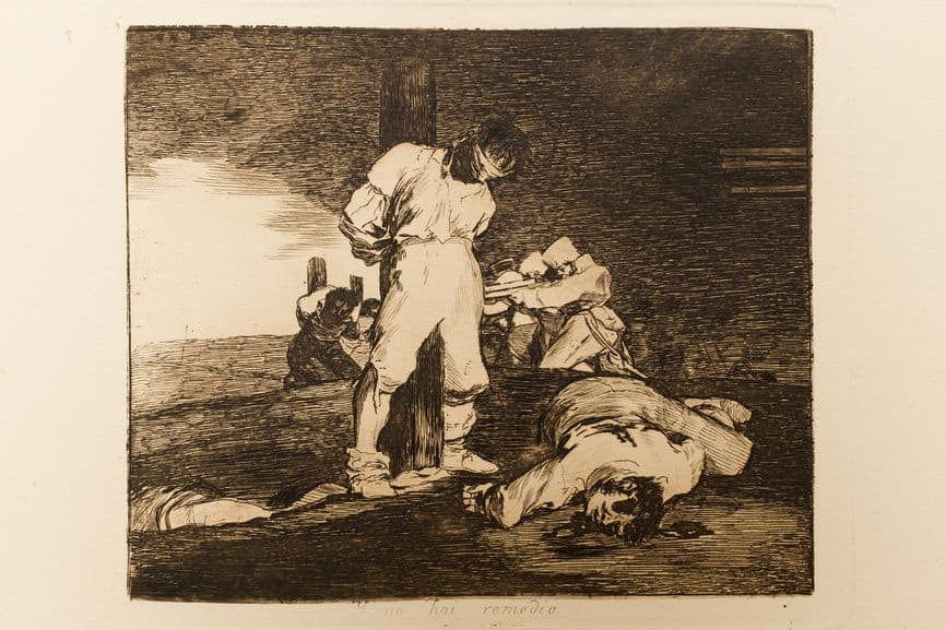 Francisco Goya - And it cannot be helped from Los Desastres de la Guerra (The Disasters of War, 1810-1820)
