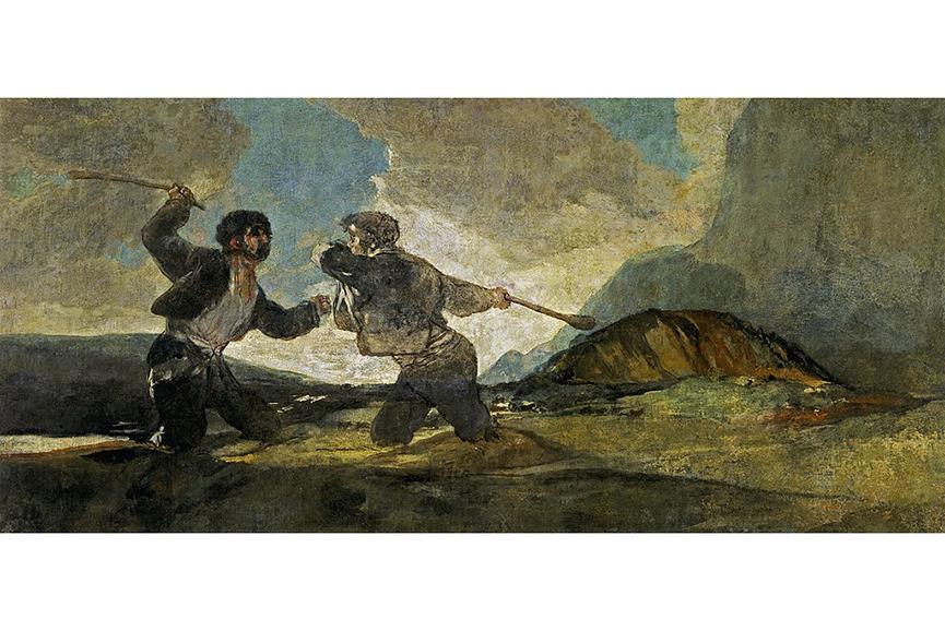 Francisco Goya - Fight with Cudgels, 1820-1823