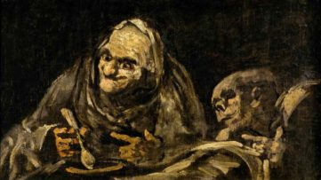 Francisco Goya - Two Old Men Eating Soup