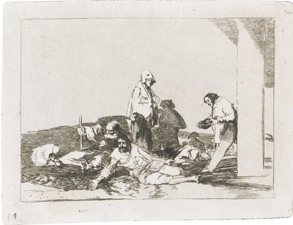 Francisco de Goya-No Hay Que Dar Voces ('It'S No Use Crying Out')-1810