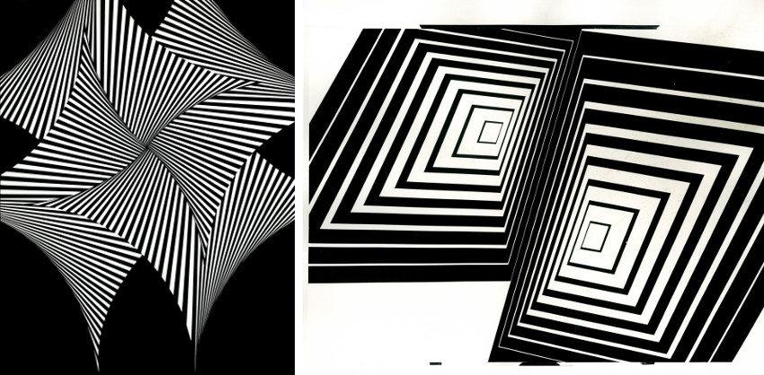 Franco Grignani - Quadrivela, 1965 - Tensione nei Quadrati, 1965, he was modern designer