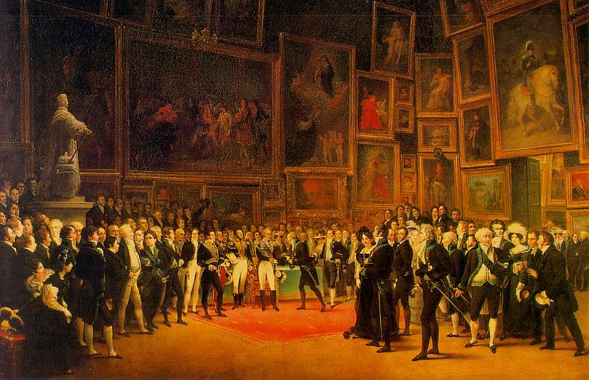 Francois-Joseph Helm - Charles X Distributing Awards to Artists Exhibiting at the Salon