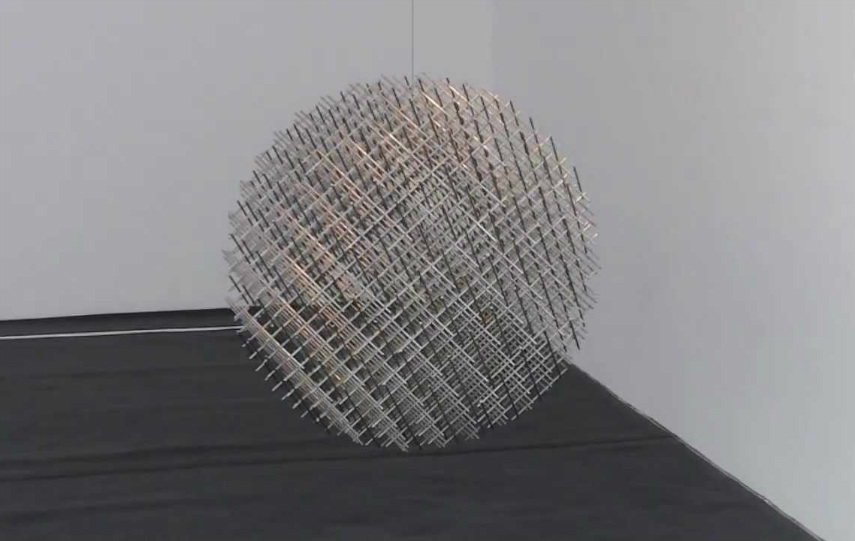 François Morellet - Sphere, photo via youtube.com works french museum news centre cholet contact new