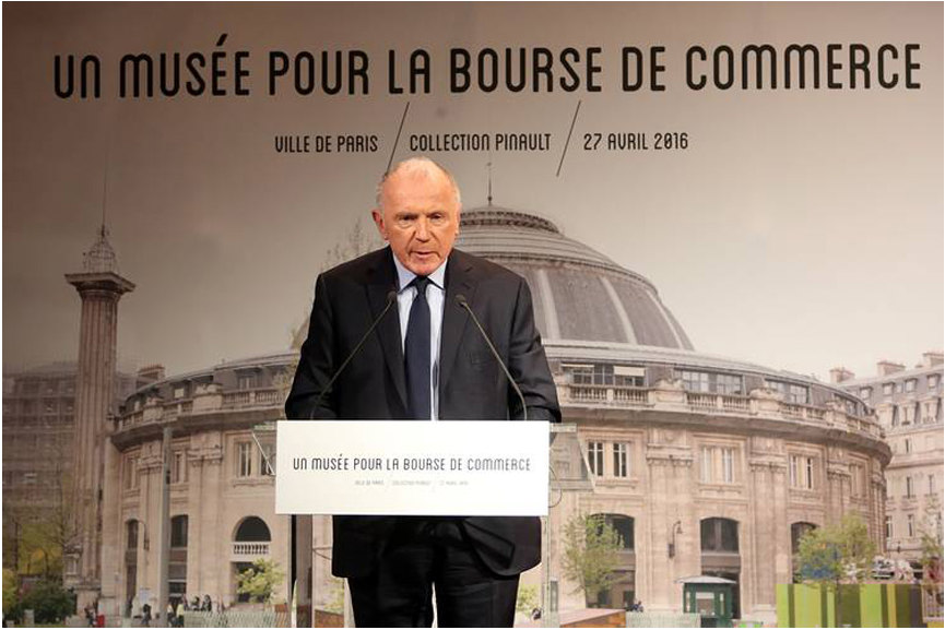 Francois Pinault in news conference announcing plans for a new Paris art museum