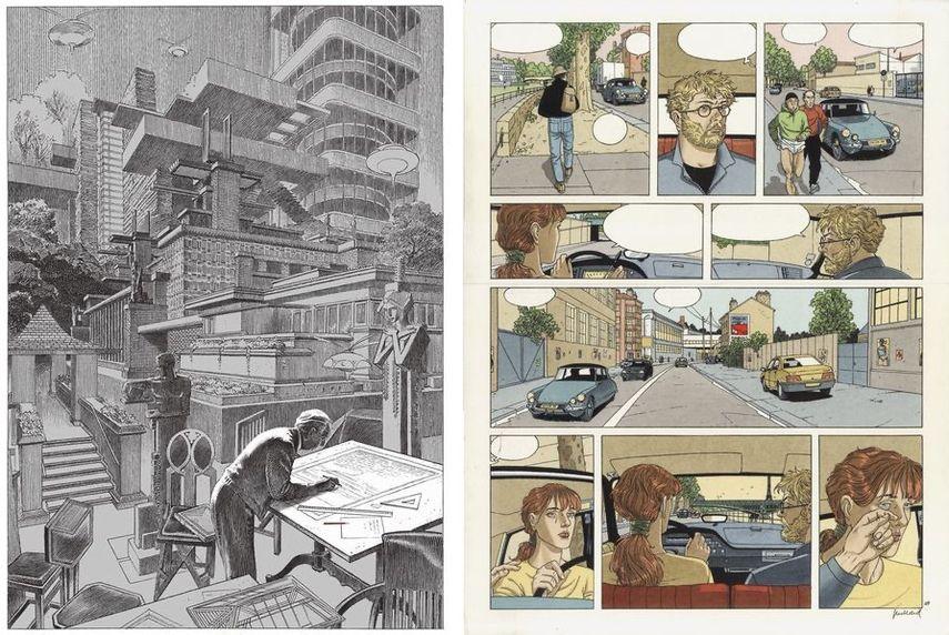 Francois Schuiten - Tribute to Frank Lloyd Wright, 2019, André Juillard - Aprés la pluie, Strip, 1998