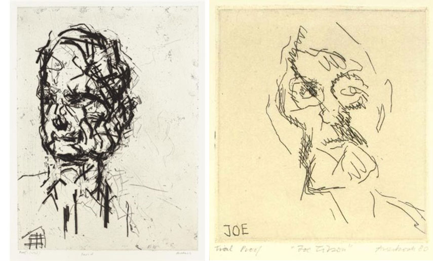 Auerbach and his friend Lucian Freud had an exhibition at tate britain