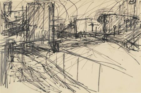 Frank Auerbach-Drawing For Mornington Crescent-