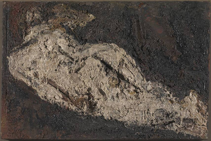tate britain organized an exhibit of the british painter Auerbach, fousing on his view and use of paint