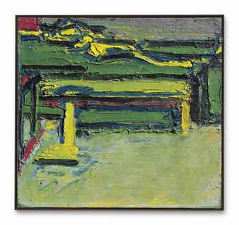 Frank Auerbach-Figure on a Bed-1968